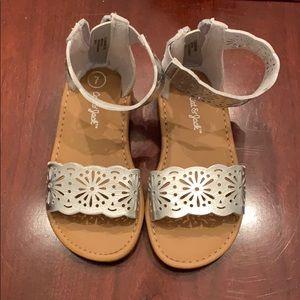 NWOT Cat & Jack Silver Sandals